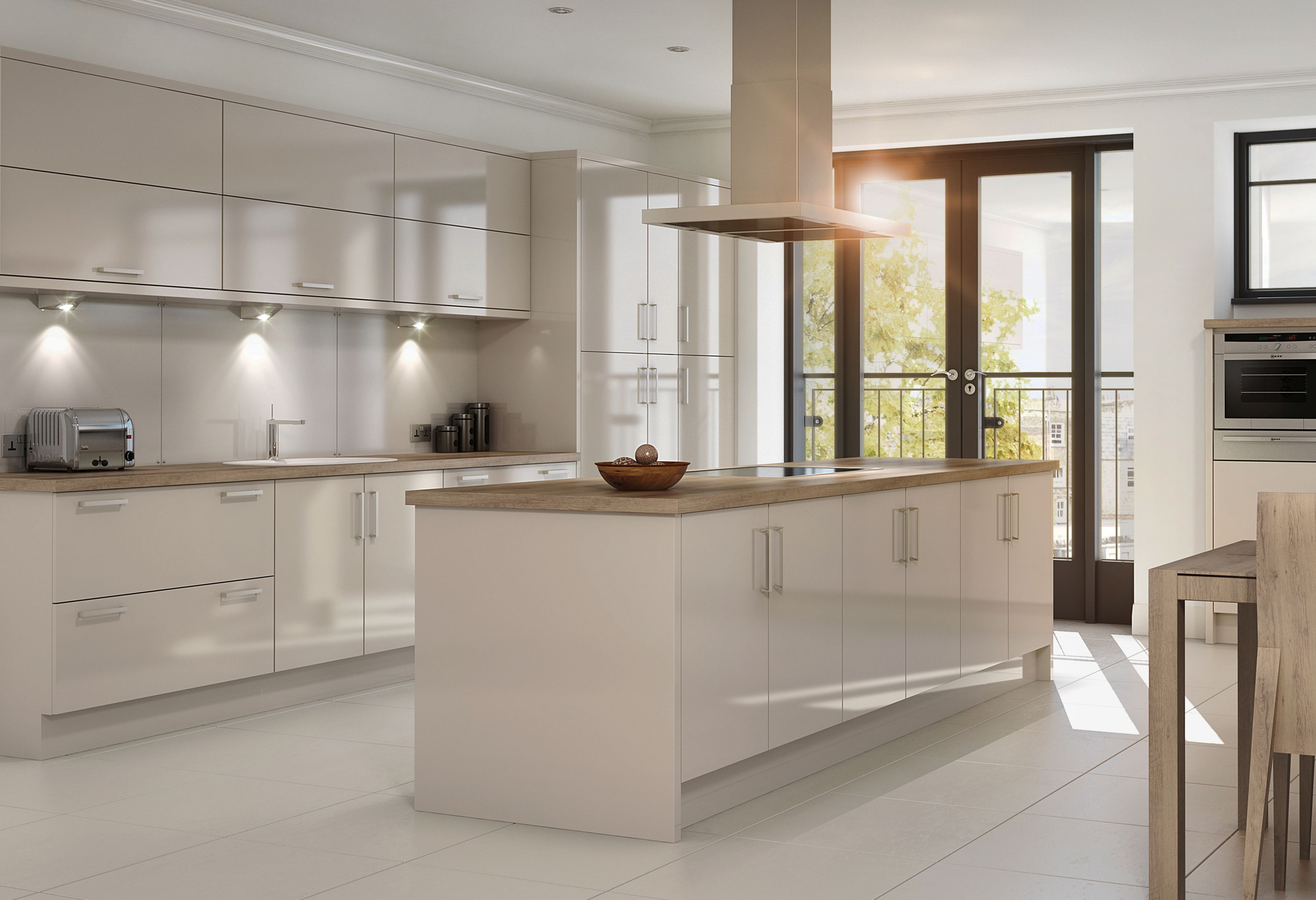 Zest Gloss Cashmere Enfield Kitchens